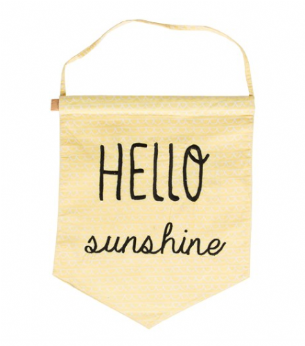 50% OFF Hello Sunshine Pastel Message Flag Yellow